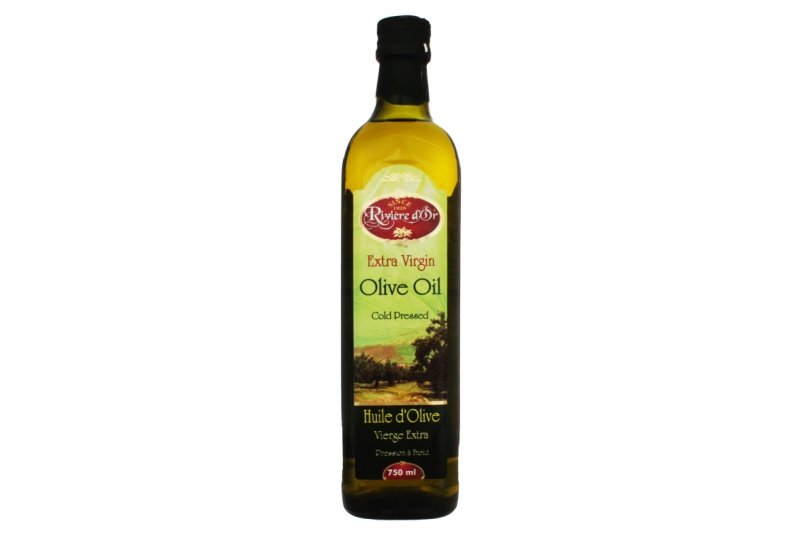 RIVIERE DOR EX VIRGIN OLIVE OIL 750 ML BOTTLE -   РИВИЕР ДОР ОЛИВК. МАСЛО  E.V  750 МЛ БУТЫЛКА ТУН